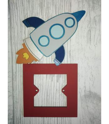 Light Switch Surround - Boys Bedroom Range - Rocket design