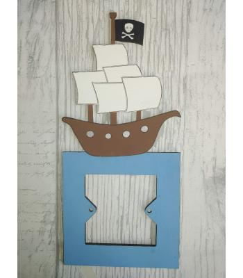 Light Switch Surround - Boys Bedroom Range - PIRATE SHIP design