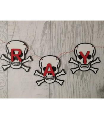 Kids Bedroom Bunting - Boys range - Skull design