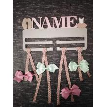 Bow Holder PERSONALISED with name - BALLET design IDEAL EASTER GIFT!