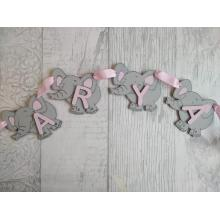 Kids Nursery/Bedroom Bunting - Elephant Design