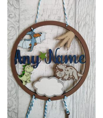 Dinosaur Dream Catcher - Personalised with name - OTHER DESIGNS