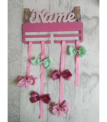 Bow Holder PERSONALISED with name - BALLET SHOES design IDEAL EASTER GIFT!