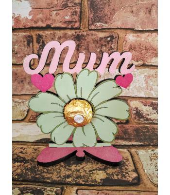 Mum 'Flower' Fererro Rocher holder on butterfly stand