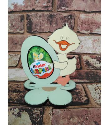 Easter - Kinder Egg confectionery holder - 'Duck holding egg' design