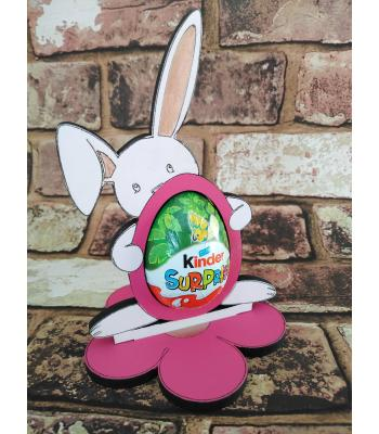 Easter - Kinder Egg confectionery holder - Bunny Rabbit with flopped ear design