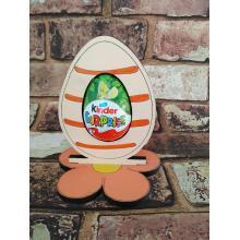 Easter - Kinder Egg confectionery holder - Stripe Egg design