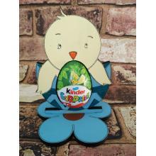 Easter - Kinder Egg confectionery holder - 'Chick in egg'design
