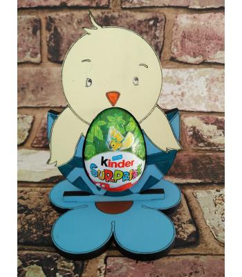 Easter - Kinder Egg confectionery holder - 'Chick in egg' design