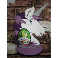 Easter - Kinder Egg confectionery holder - Unicorn head shape design