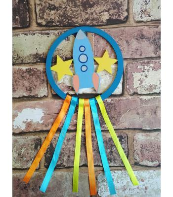 Mini Dream Catcher - Space Rocket design MORE DESIGNS AVAILABLE