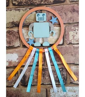 Mini Dream Catcher - Robot design MORE DESIGNS AVAILABLE