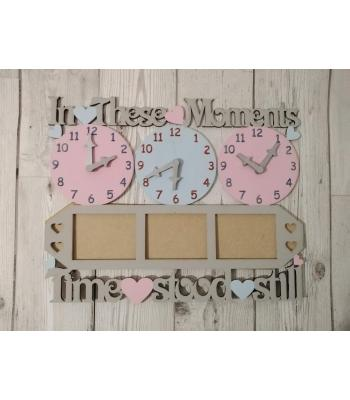 Photo Frame 'In these moments time stood still' clock design(s) -  Options Available