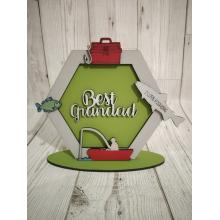 Hexagon 3D plaque personalised with ANY NAME - Fishing Themed - Other themes available here