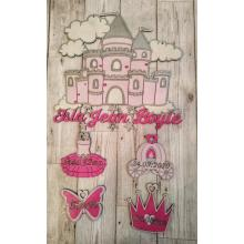 Newborn Baby Girl personalised Birth Details plaque/gift princess castle