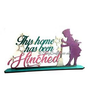 Mrs Hinch - 'This home has been Hinched' Quote Sign on a Stand