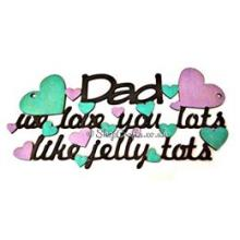 """Name"" we love you lots like jelly tots"" quote sign gift"