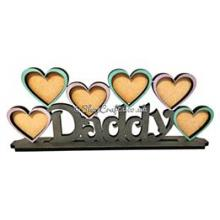 Daddy photo frame on stand - Any centre wording