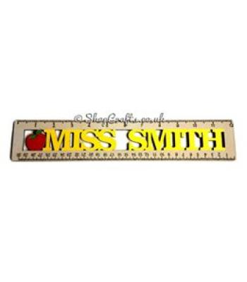 Teachers gift -  A ruler with personalised Teachers name