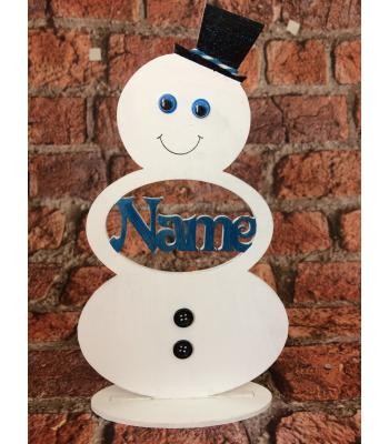 Xmas Snowman on Stand - Personalised - Adult and Child size(s) available
