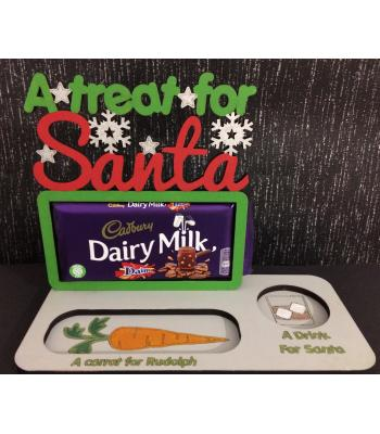 Xmas Eve Santa & Reindeer 'treat' tray