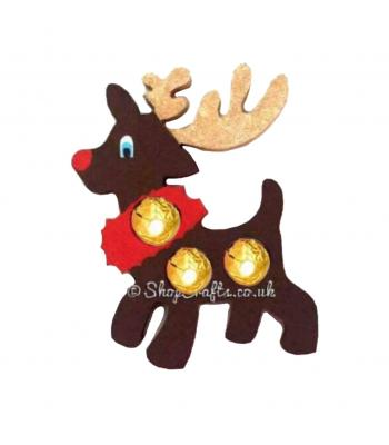 Freestanding 18mm thick Reindeer Chocolate Ferrero Rocher Holder