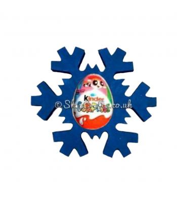 Freestanding 18mm thick Kinder Egg Chocolate Holder - Snowflake Design