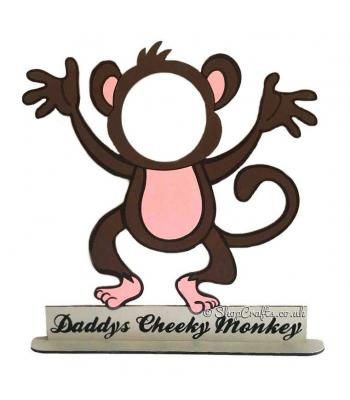 Personalised '.... Cheeky Monkey ' family Photo Frame on Stand