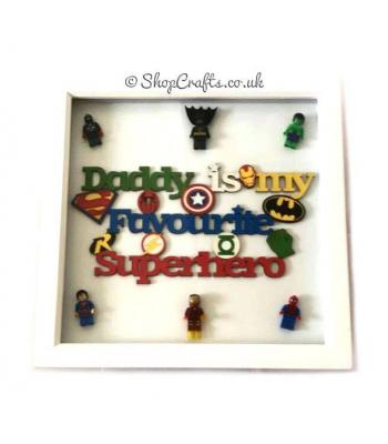 'Daddy is My Favourite Superhero' Box Frame