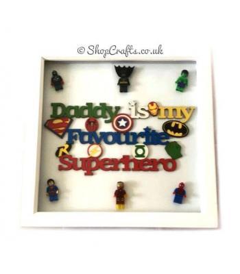 'Daddy is My Favourite Superhero' Box Frame