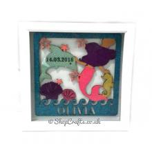 Personalised Mermaid Theme - Birth Details Plaque