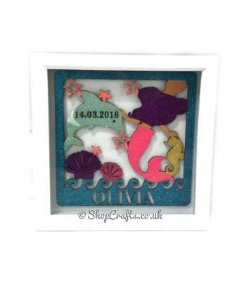 Personalised Mermaid Theme - Birth Details Plaque
