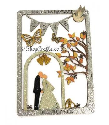 Personalised  Wedding Plaque With Surname & Date