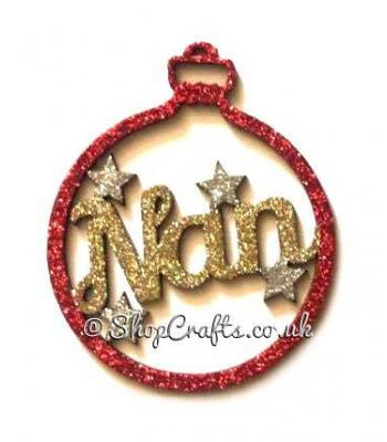 Personalised Name Bauble with Stars