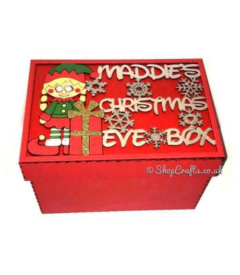 Personalised Christmas Eve Box - Girl elf design