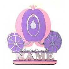Personalised Princess Carriage Shape on Stand With Name