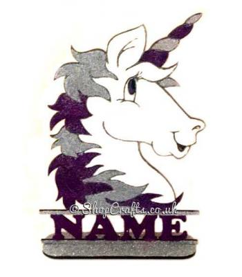 Personalised Unicorn Head On Stand