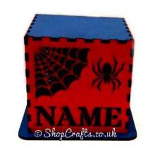 Personalised Halloween Tea Light Holder - Spider Design