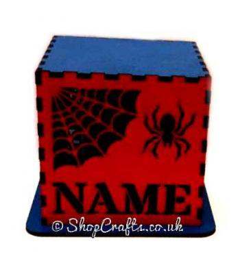 Personalised Halloween Tea Light Holder - Spider Design