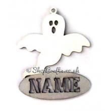 Personalised Ghost Hanging Decoration