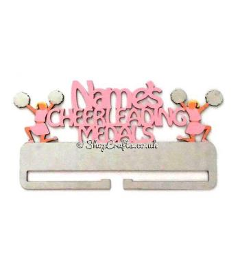 Personalised Name Cheerleading Hanging Medal Holder