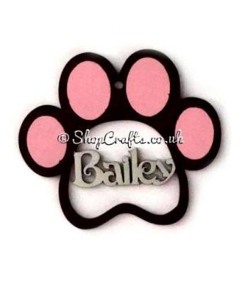 Personalised Pet Paw Print Bauble