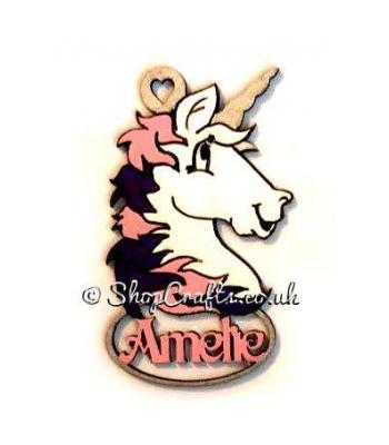 Personalised Unicorn Name Bauble
