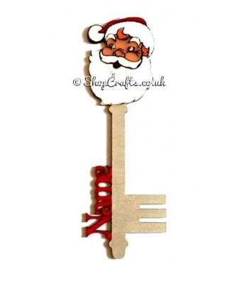 Personalised Name Magic Key -  Santa Head