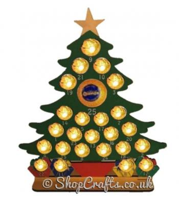 Reuseable 6mm Ferrero Rocher Christmas Tree Advent Calendar - Other Designs Available