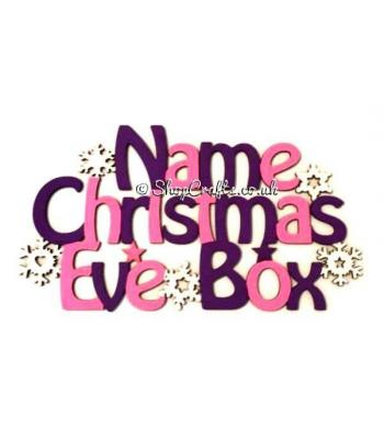 'Christmas Eve Box' Sign with Snowflakes