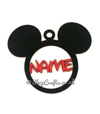 Personalised Mouse Head Name Bauble