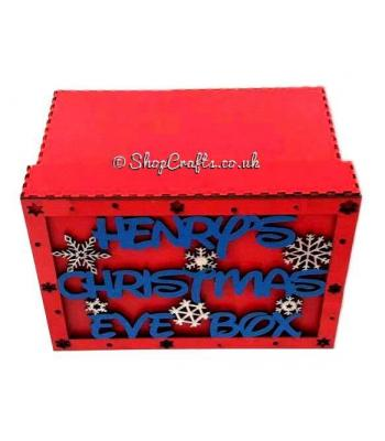 Personalised Christmas Eve Box - Snowflake Design