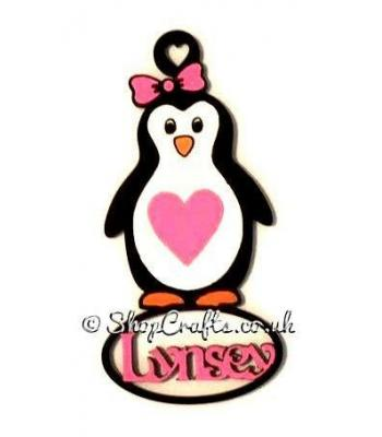 Personalised Girl Penguin Name Bauble