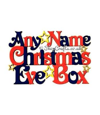 'Christmas Eve Box' Sign with Stars